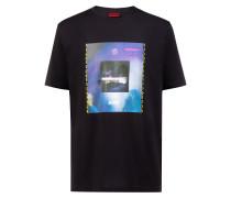 T-Shirt aus Baumwolle mit 90er-Jahre Club-Print