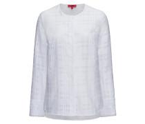 Kragenlose Baumwoll-Bluse