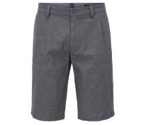 Slim-Fit Shorts aus zweifarbiger Stretch-Baumwolle