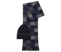 Geschenk-Set mit Schal und Mütze aus reiner Wolle