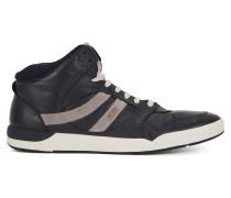 Hightop Sneakers aus gewaschenem Leder