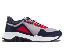 Lowtop Sneakers aus geprägtem Neopren