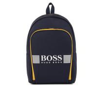 Rucksack aus Nylon mit großem Logo-Detail von BOSS