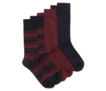 Dreier-Pack mittelhohe Socken aus elastischem Baumwoll-Mix in der Geschenkbox