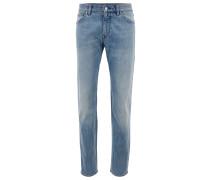 Regular-Fit Jeans aus gewaschenem Stretch-Denim