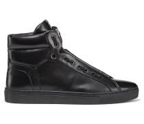 Hightop Sneakers aus Nappaleder mit Reißverschluss