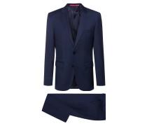 Dezent gemusterter Regular-Fit Anzug aus leichter Schurwolle