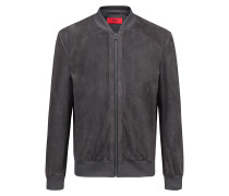Relaxed-Fit Jacke aus Leder mit Velours-Finish. HUGO BOSS 9de27ba578