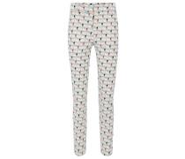 Bedruckte Regular-Fit Hose aus Stretch-Baumwolle