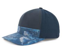 Bedruckte Cap im Colour-Block-Design