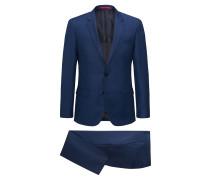 Slim-Fit Anzug aus garngefärbtem Schurwoll-Serge