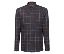 Extra Slim-Fit Hemd aus Baumwolle mit Karo-Print