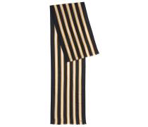 Gestreifter Schal aus leichtem Material-Mix