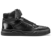 Hightop Sneakers aus Nappaleder mit Nieten