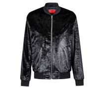 Slim-Fit Blouson aus Metallic-Samt