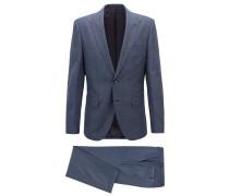 Dreifarbiger Regular-Fit Anzug aus Schurwoll-Twill