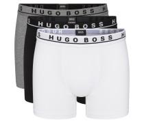 Dreier-Pack Boxershorts aus Stretch-Baumwolle