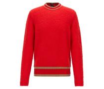 Pullover mit Streifen-Dessin aus Woll-Mix