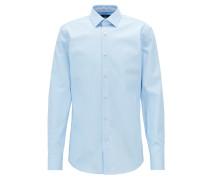 Slim-Fit Hemd aus bügelleichter österreichischer Baumwolle-Popeline