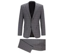 Karierter Slim-Fit Anzug aus nachverfolgbarer Merinowolle
