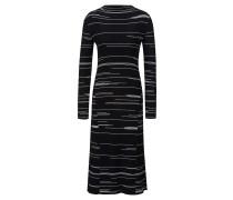 Kleid aus Stretch-Gewebe mit unregelmäßigen Linien