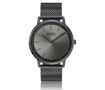 Grau beschichtete Unisex-Uhr aus Edelstahl