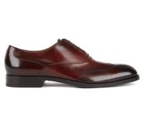 Oxford-Schuhe aus Leder mit gelaserten Details