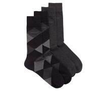 Zweier-Pack Socken aus gekämmtem, elastischem Baumwoll-Mix