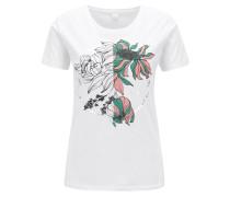 T-Shirt aus Baumwolle mit Blumen-Print
