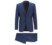 Slim-Fit Anzug aus Schurwoll-Serge