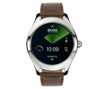 Touch Smartwatch aus Edelstahl