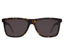 Sonnenbrille aus transparentem Acetat