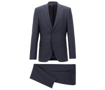 Regular-Fit Anzug aus Schurwolle mit Längsstreifen