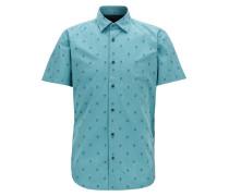 Regular-Fit Hemd aus Baumwoll-Jacquard