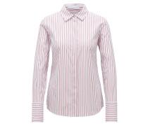 Regular-Fit Bluse aus Baumwoll-Mix
