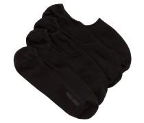 Zweier-Pack Füßlinge aus Baumwoll-Mix mit Silikon