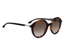Sonnenbrille mit Doppelsteg und Havanna-Muster