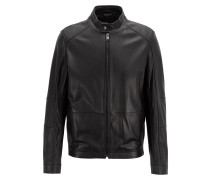 Regular-Fit Blouson aus Nappaleder
