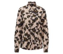 Regular-Fit Bluse im Utility-Stil aus Krepp