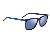Eckige Sonnenbrille aus mehrlagigem Acetat