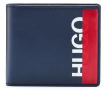 53348253e8da1 Klapp-Geldbörse aus Leder mit abgeschnittenem Logo