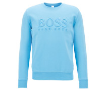Bestickter Pullover aus French Terry