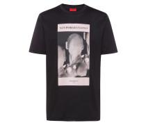 T-Shirt aus Baumwolle mit Techno-Print