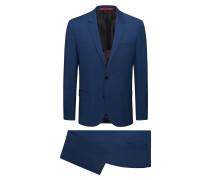 Karierter Slim-Fit Anzug aus garngefärbter Schurwolle