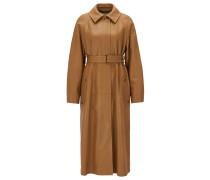 Regular-Fit Mantel aus Leder