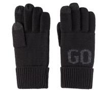 Touchscreen-Handschuhe aus Woll-Mix mit Logo