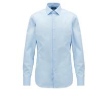 Slim-Fit Business-Hemd aus Baumwoll-Popeline