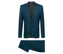 Extra Slim-Fit Anzug aus meliertem Schurwoll-Twill