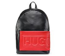 Rucksack aus Leder mit Logo-Prägung
