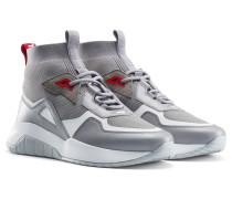 Sneakers mit Stricksocke und dicker Sohle